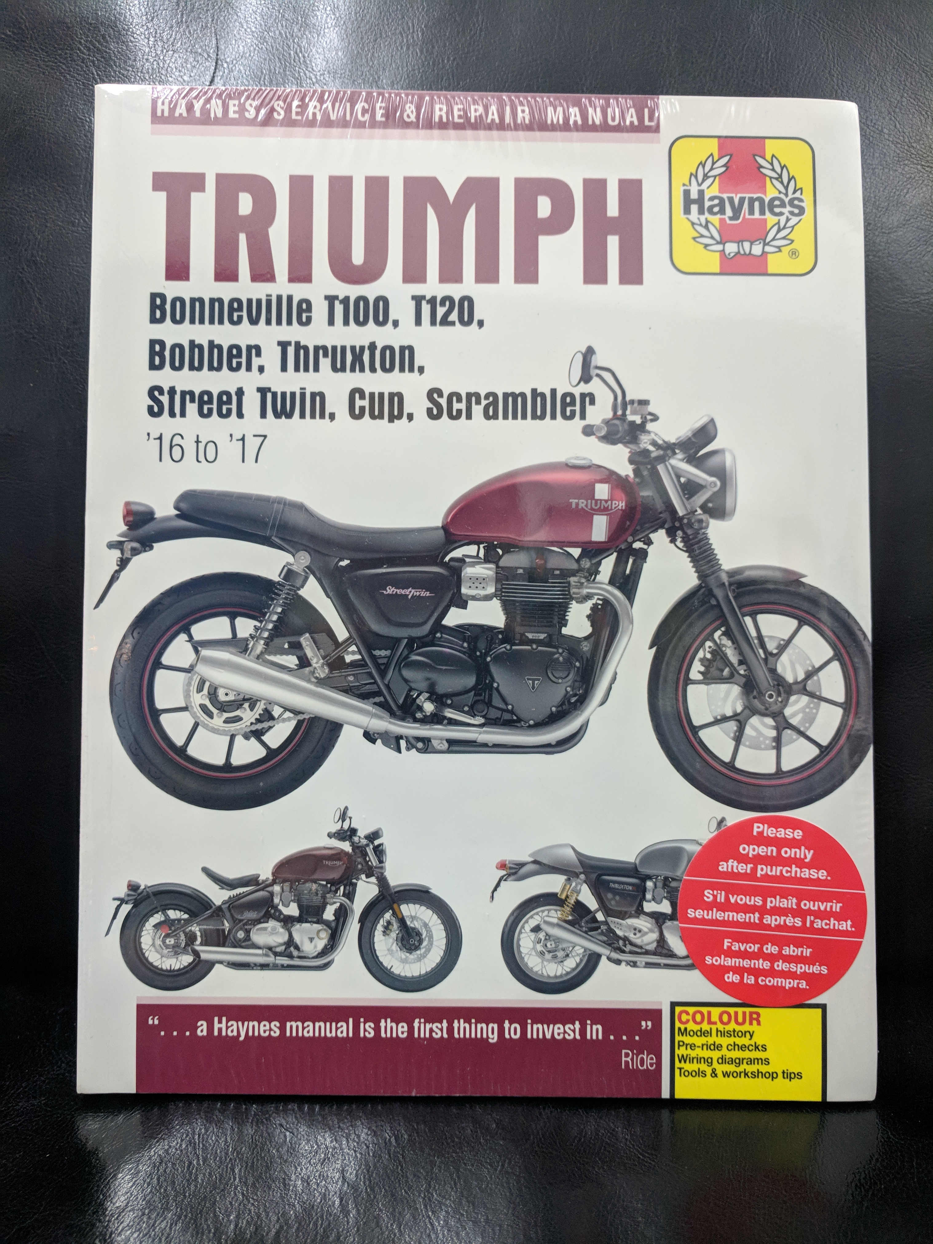 Fix It Yourself With A Haynes Manual Triumph T100 Wiring Diagram