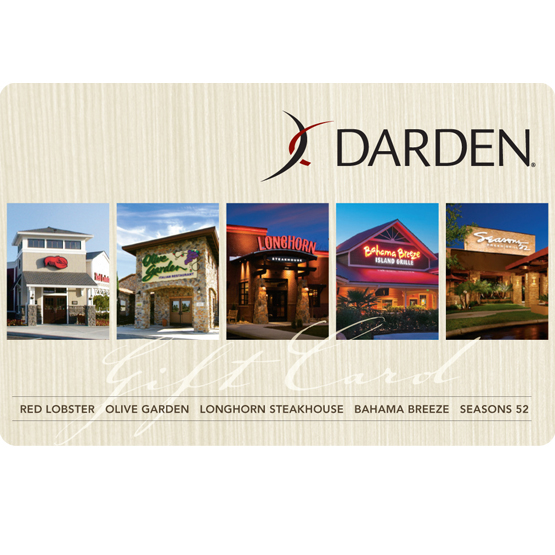 Win one of five 100 gift cards to darden family - Olive garden gift card at red lobster ...